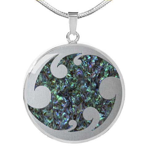 New Zealand Abalone Shell Paua Shell with Koru Necklace K5 - 1st New Zealand