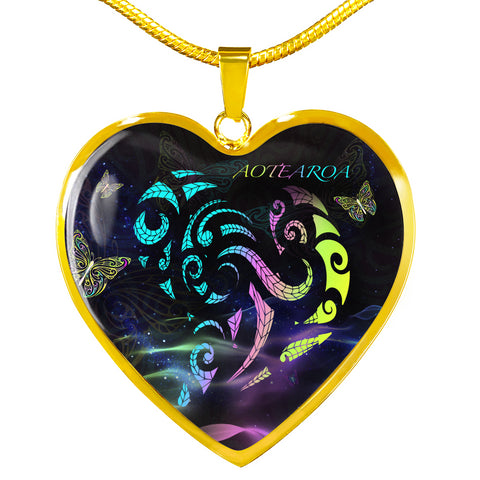 Light Maori New Zealand Heart Necklace K5 - 1st New Zealand