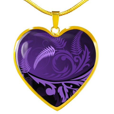 New Zealand Silver Fern Necklace Purple - 1st New Zealand