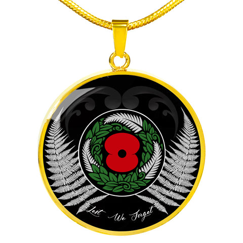 Lest We Forget New Zealand Circle Necklace TH5 - 1st New Zealand