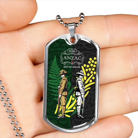 Anzac Spirit, Lest We Forget Dog Tag 02 K5 - 1st New Zealand