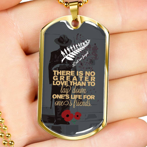 Lest We Forget - New Zealand Dog Tag K5 - 1st New Zealand