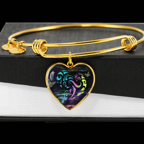 New Zealand Jewelry Light Maori Heart Bangle K5 - 1st New Zealand