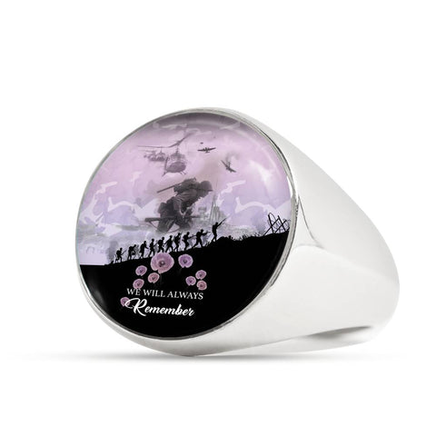 Remember Anzac New Zealand Ring Angel Pink K5 - 1st New Zealand