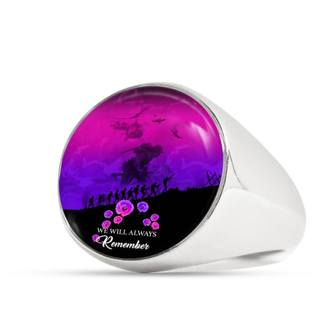 Remember Anzac New Zealand Ring Pink K5 - 1st New Zealand