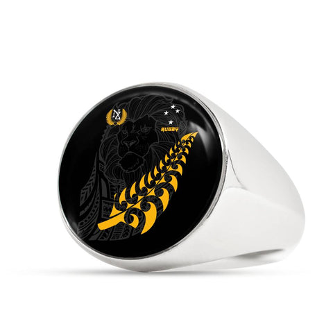 New Zealand Maori Lion Rugby Ring K5 - 1st New Zealand