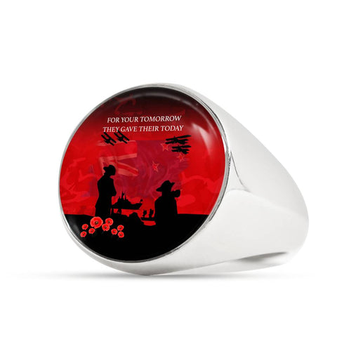 Anzac Heroes New Zealand Ring - Lest We Forget K5 - 1st New Zealand