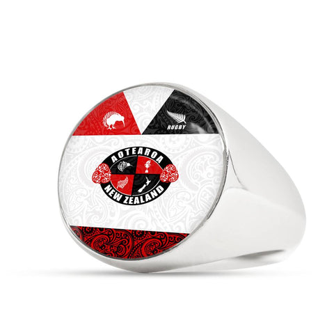 New Zealand Aotearoa Rugby Champion Ring K4 - 1st New Zealand