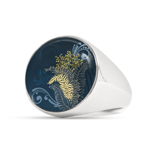 Image of Silver Fern New Zealand Ring K5 - 1st New Zealand