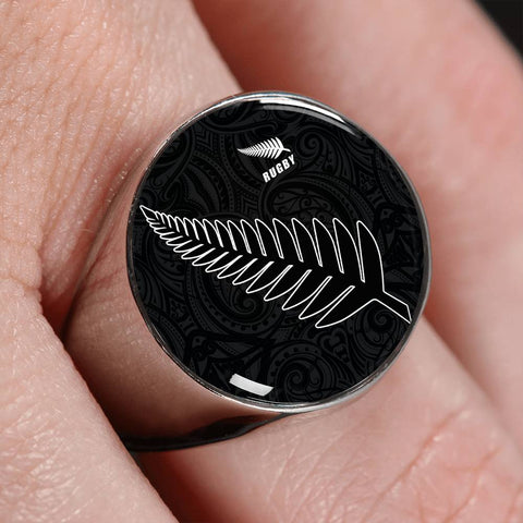 Silver Fern Rugby Ring K4 - 1st New Zealand