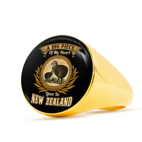 A Big Piece Of My Heart Lives In New Zealand Ring K5 - 1st New Zealand