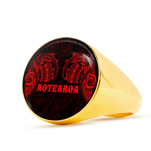 Aotearoa Maori Tattoo Ring Red K4 - 1st New Zealand