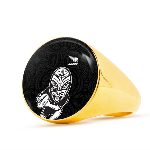 Image of Rugby Haka New Style Ring K4 - 1st New Zealand