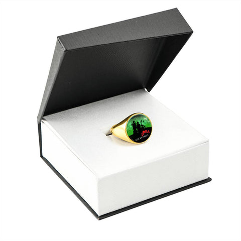 Anzac Heroes New Zealand Green - Lest We Forget Ring K5 - 1st New Zealand