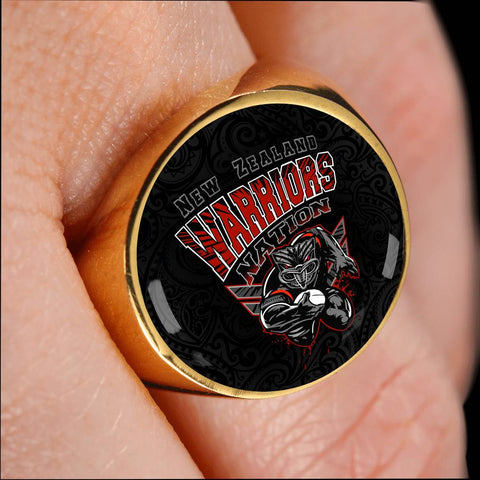 New Zealand Warriors Ring Unique K4 - 1st New Zealand