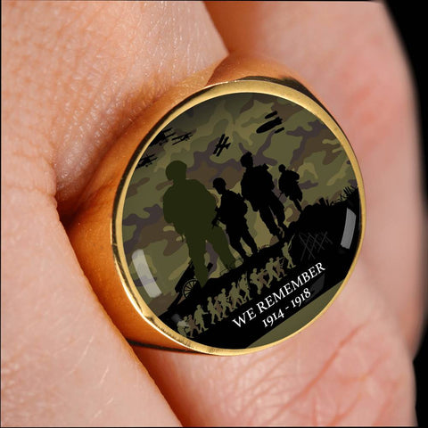 We Remember Anzac Camo New Zealand Ring K5 - 1st New Zealand