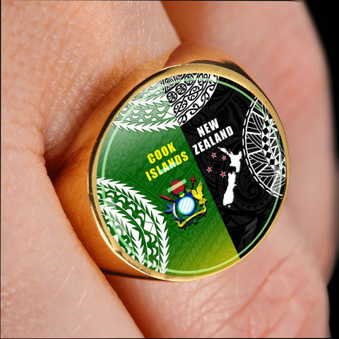 New Zealand Cook Islands Ring K4 - 1st New Zealand