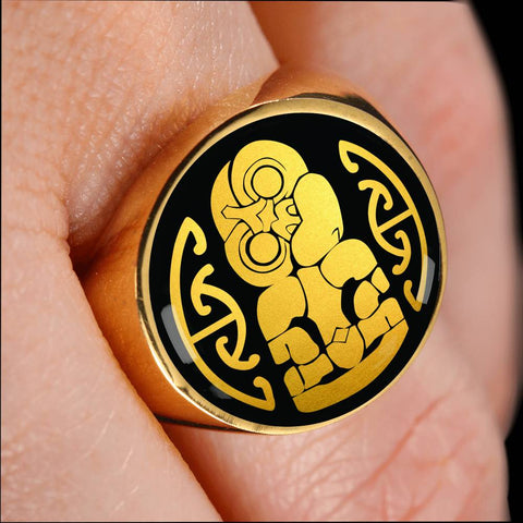 Hei Tiki New Zealand Ring K4 - 1st New Zealand
