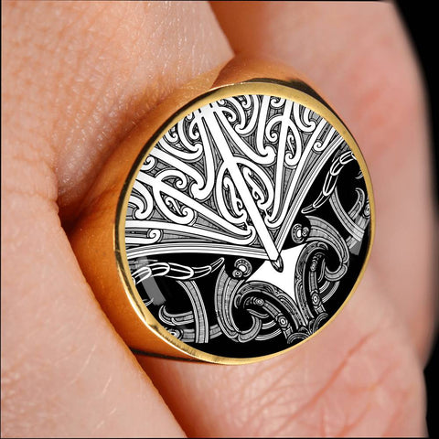 Maori Tattoo Koru Ring White K4 - 1st New Zealand