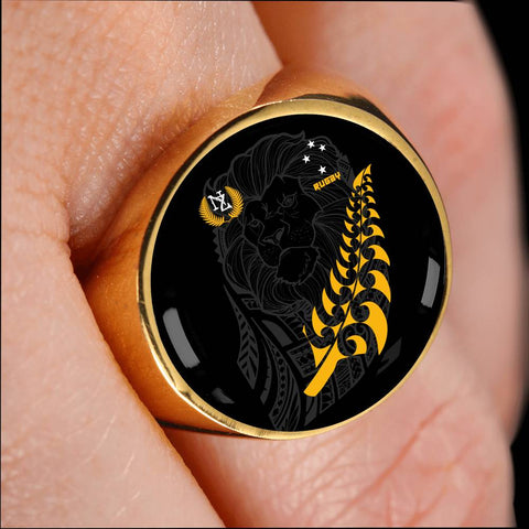 Image of New Zealand Maori Lion Rugby Ring K5 - 1st New Zealand