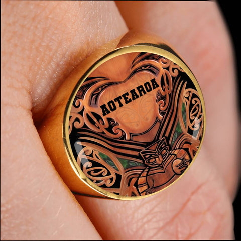 New Zealand Warriors Ring Whakairo K4 - 1st New Zealand