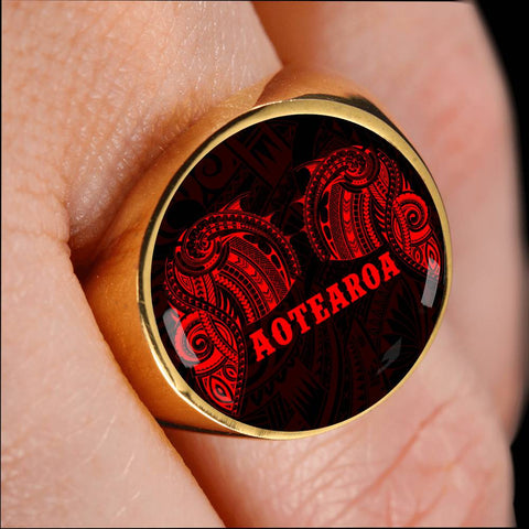 Image of Aotearoa Maori Tattoo Ring Red K4 - 1st New Zealand