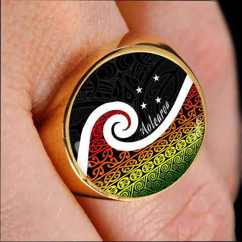New Zealand Koru Rastafari Color Ring K4 - 1st New Zealand