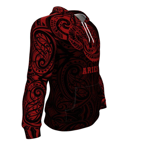 Aries Zodiac Hoodie Maori Tattoo TH5