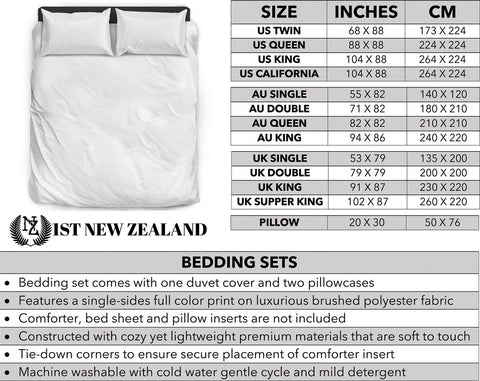 Dreamy Dawn Tui New Zealand Bedding Set K5