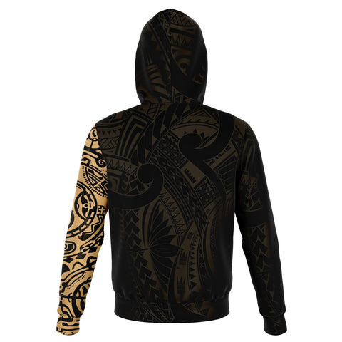 Leo Zodiac Hoodie Aotearoa Maori Tattoo | Love New Zealand | Clothing back