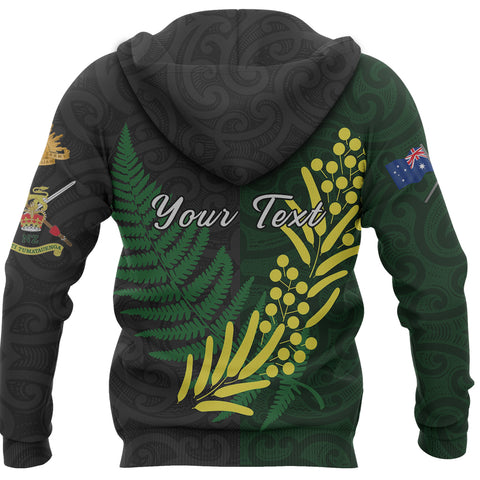 Anzac Spirit Zip Hoodie, Lest We Forget Full Zip Hoodie - Customized K5 - 1st New Zealand