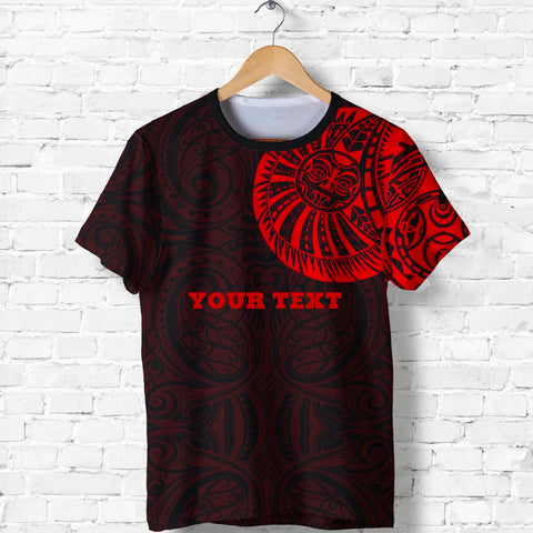 Maori Warrior Tattoo T Shirt Red - Customized A75