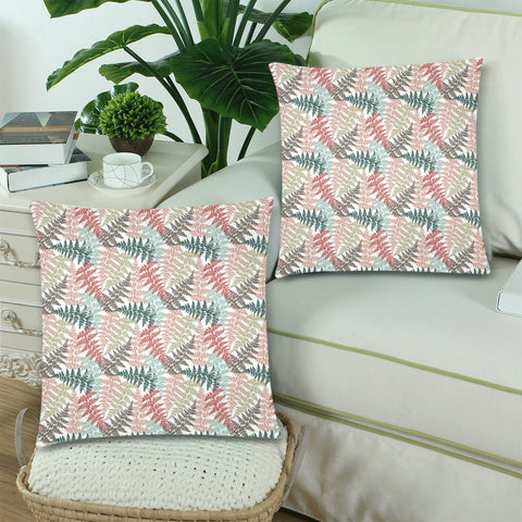 New Zealand Fern Leaves Pattern Zippered Pillow Cases 23 - 1st New Zealand