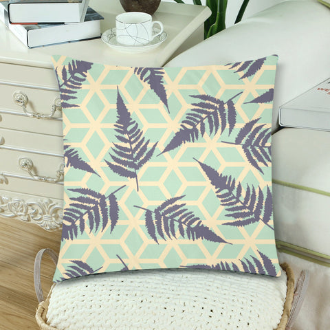 Image of New Zealand Fern Leaves Pattern Zippered Pillow Case - 1st New Zealand