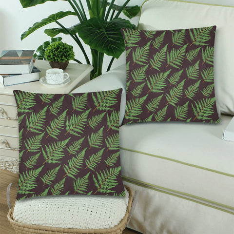 New Zealand Fern Leaves Pattern Zippered Pillow Cases 14 - 1st New Zealand