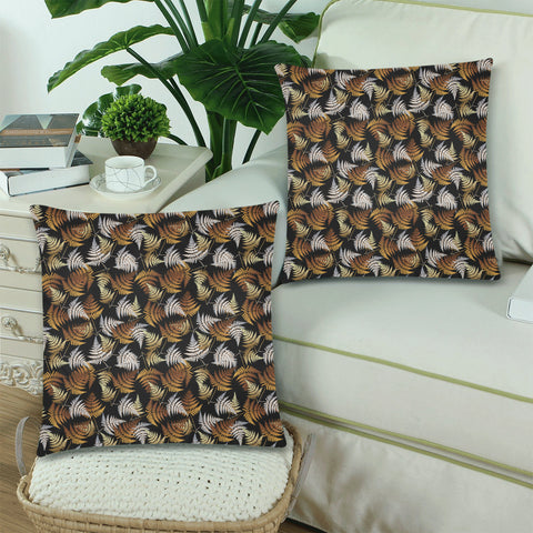 New Zealand Fern Leaves Pattern Zippered Pillow Cases 04 - 1st New Zealand