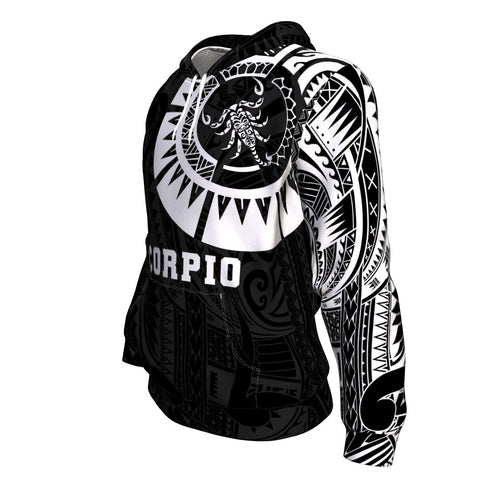 Image of Scorpio Zodiac Hoodie Maori Tattoo TH75