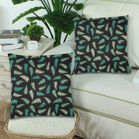 New Zealand Fern Leaves Pattern Zippered Pillow Cases 11 - 1st New Zealand