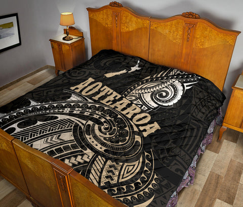 Maori Tattoo with Map New Zealand Premium Quilt K4 - 1st New Zealand