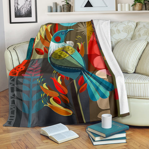 New Zealand Tui Art Blanket K5 - 1st New Zealand