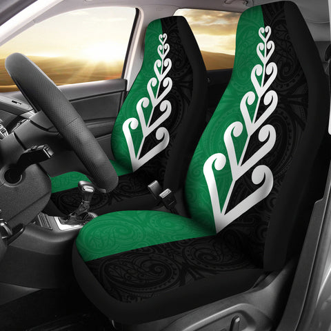 New Zealand Silver Fern Flag Car Seat Covers K4 - 1st New Zealand