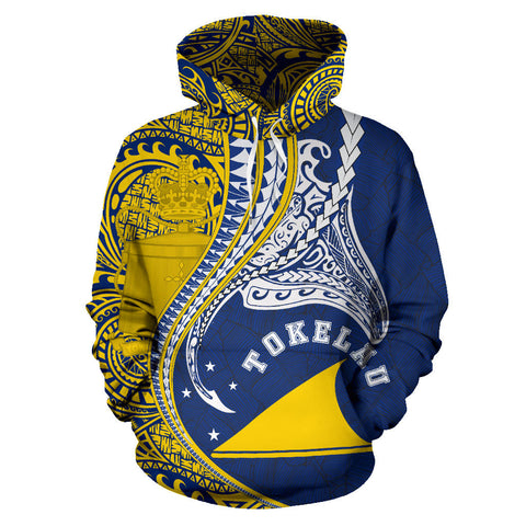 Tokelau Hoodie Manta Polynesian All Over Hoodie TH65 - 1st New Zealand