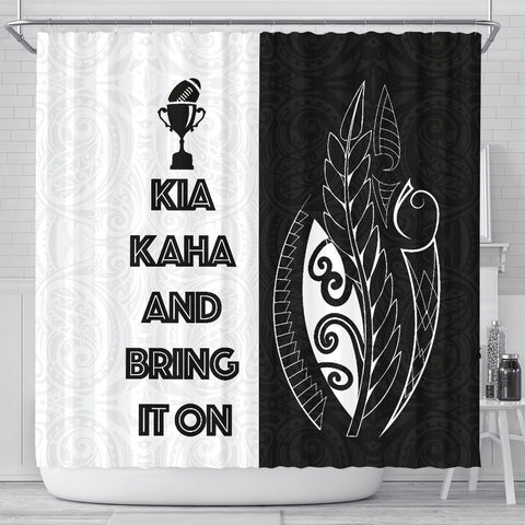 Kia Kaha And Bring It On Shower Curtain K40
