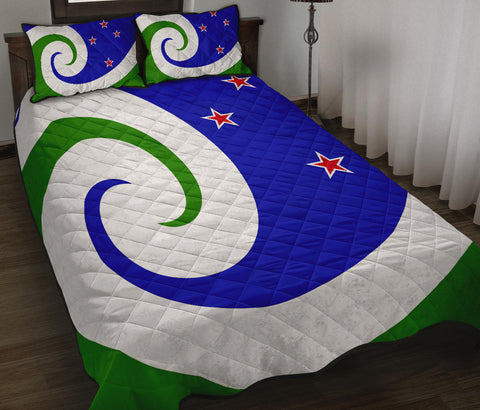 New Zealand Flag Manawa Blue and Green Quilt Bedding Sets K54 - 1st New Zealand
