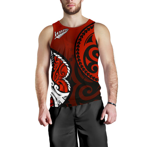 Image of Lest We Forget - Maori Poppy Pullover Men's Tank Th00 - 1st New Zealand