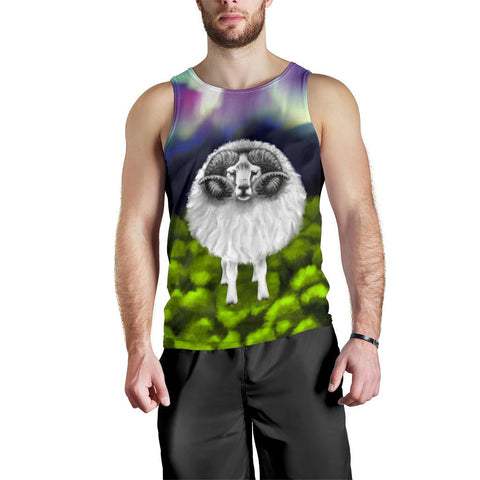 Image of New Zealand Sheep Men Tank Top Southern Lights K4 - 1st New Zealand