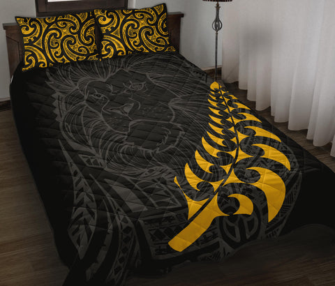 Image of New Zealand Maori Lion Rugby Quilt Bed Set K5 - 1st New Zealand