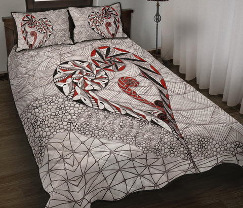 New Zealand Quilt Bed Set, Koru Aroha Maori Quilt And Pillow Cover K4 - 1st New Zealand