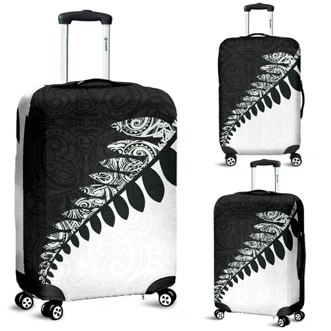 New Zealand Luggage Cover, Maori Silver Fern Suitcase Covers K4 - 1st New Zealand