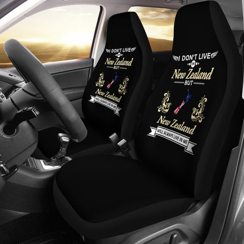 New Zealand Flag Map Car Seat Covers K5 - 1st New Zealand